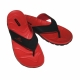 Herren V-Strap Flip Flop Zehensandale in Rot von Aquafeel Fashy New Version 7544