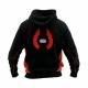 Hollis Sweatshirt Hoodie Pullover Schwarz Rot